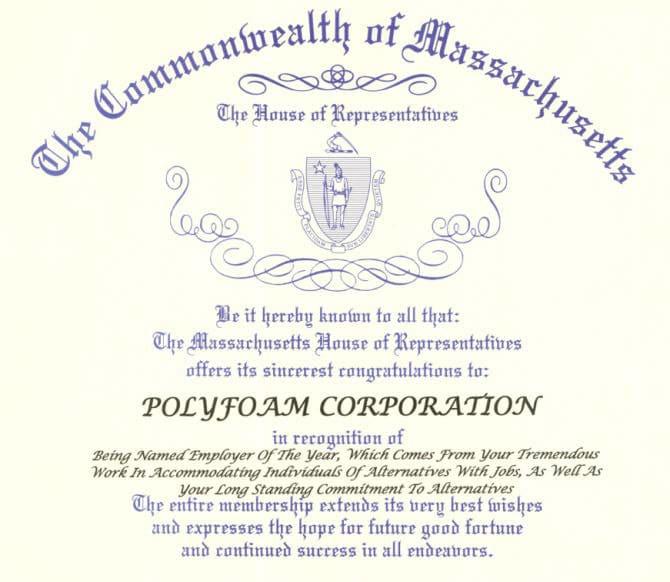 Polyfoam economic Responsibility