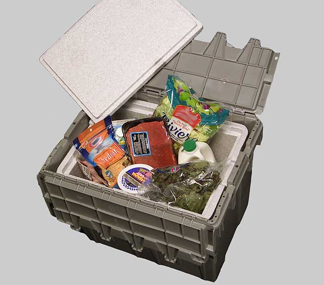Grocery Delivery Tote with EPS Liner