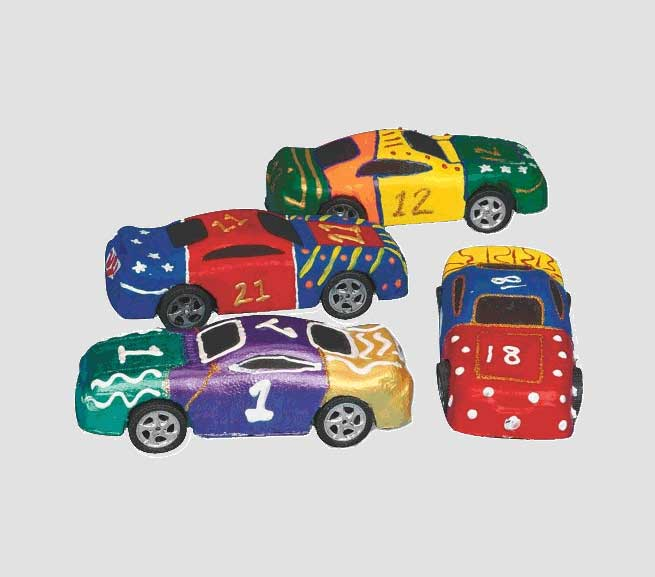 Toy Cars for Painting Craft