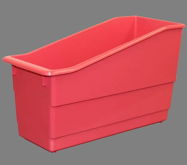 injection molded plastic bin