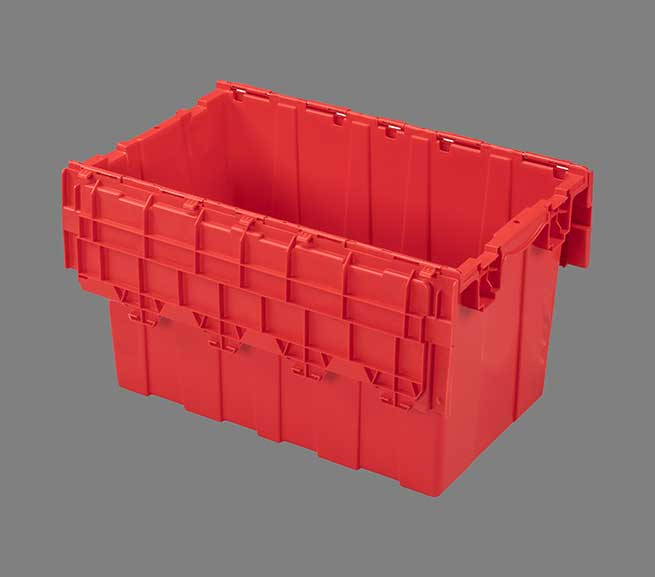 injection molded plastic bin